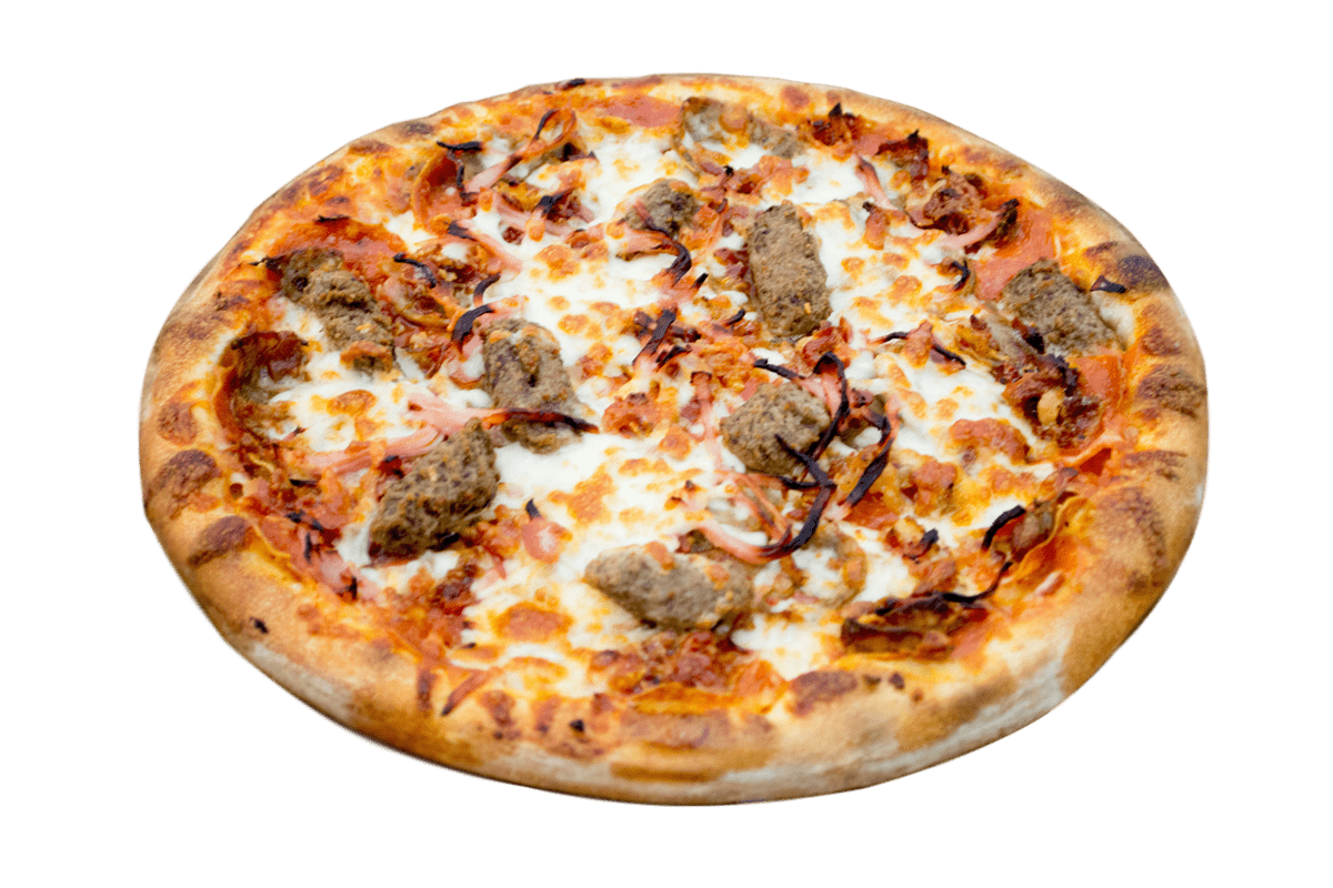 Meat-a-Saurus Rex Pizza