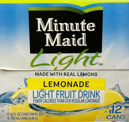 Half Gallon Minute Maid Lemonade Light