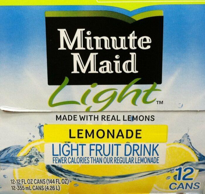 Half Gallon Minute Maid Lemonade Light